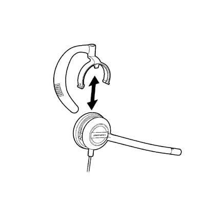 Plantronics PL-88814-01 EncorePro HW530//540 Replacement Ear Loops